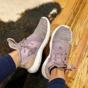 Adidas Tubular Sneakers in Lilac/Grey